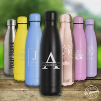 Personalised Water Bottle Stainless Steel Vacuum Insulated Flask 500ml