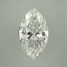 Fiery 9 X 4.5 MM 0.70 Carat Near White Marquise Cut Loose Moissanite 4 Ring