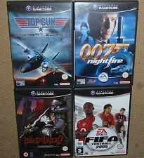 JOB LOT 4 x NINTENDO GAMECUBE GAME Top Gun James Bond 007 Nightfire Blood Omen 2