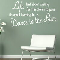 Life Waiting - Motivational Quote / Wall Decal / Inspirational Wall Quote QU62