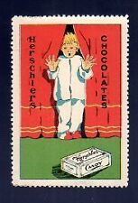 Poster Ad Stamp Early 1900's Herschiers Chocolates