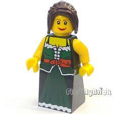 M141 Lego Medieval Market Village Peasant Female Minifigure 10193 NEW