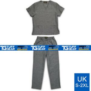 Medical Scrub Uniform Tunic Trouser Set, Unisex Nhs Compliant Size Hospital Suit