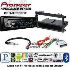 Pioneer Car Stereo Radio Bluetooth CD Player Dash Install Mount Harness Antenna