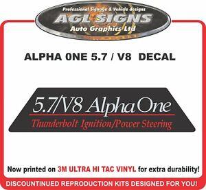 Mercruiser Alpha One 5.7/V8 Flame Arrestor Front Reproduction Decal
