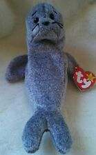 TY Beanie Baby ~ SLIPPERY Seal ~ NEW with Tags with Error on Tag Retired