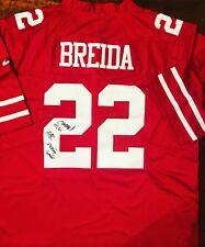 e6628bd8f Matt Breida Signed San Francisco 49ers Jersey Proof Coa Auto W/ Inscription