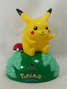 Vintage POKEMON Room Greeter Sensor Talking Pikachu Figure Trendmasters 1999