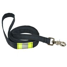 Personalized Firefighter Dog Leash made from New Black Turnout Gear Material