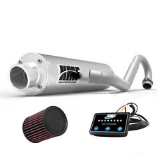 HMF Performance Full System Exhaust Pipe Brushed + EFI Optimizer + K&N DS 450