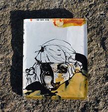 Dipinta a mano Frigo Calamita/magnete Ragazza/regalo fatto a mano/Reverse Pittura su vetro