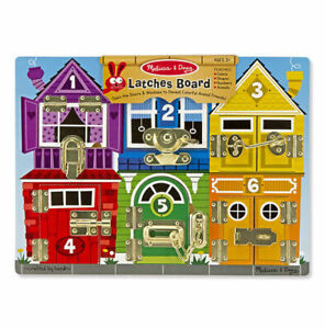 Melissa and Doug Wooden Latches Board   Coordination & Fine Motor Skills
