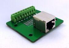 RJ-45 Jack Connector Breakout Board Adapter Ethernet 8P8C single