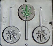 Marijuana Leaf Pot Leaf Lollipop Chocolate Candy Mold Canibus  3427 NEW