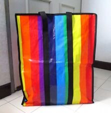 LARGE STORAGE RAINBOW BIG BAG HEAVY DUTY MULTI CONTAINER MOVING TRAVEL SIZE L