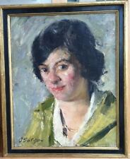Jacques Patissou ( French 1880-1925)  Oil Painting of a Female