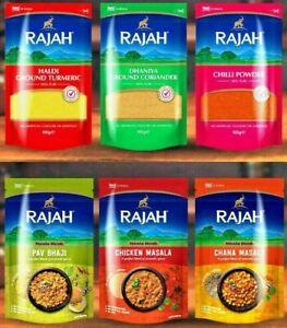RAJAH Ground Spices, Whole masala, Herbs, Seasonings, Curry Powder, BBQ, Birayni