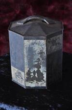 "Vintage Biscuit Tin  ""PEEK FREAN & Co. Ltd.""… Asian Motif Octagon Shape..."