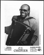 ~ Zydeco C.J. Chenier Original 1980s Promo Portrait Photo Accordian