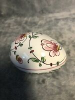 Egg Box Anfora Agueda Hand Painted Made In Portugal 1965 Great Condition