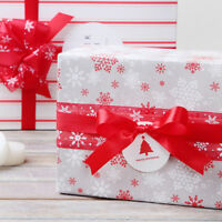 25 Yards Christmas Snowflake Wired Ribbon Webbing Packing Gift Craft Decor