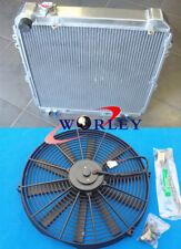 3 ROW For Toyota Hilux surf KZN130 1KZ-TE 3.0 TD 93-96 Aluminum Radiator & Fan