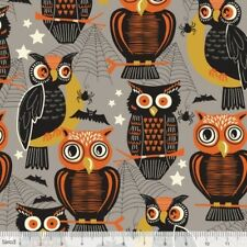 SPOOKTACULAR EVE OWLS HOOTS WHO'S THERE HALLOWEEN FABRIC