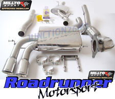 Milltek Audi S3 Sportback Exhaust Turbo Back System Resonated & De Cat Downpipe