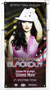 """Britney Spears """"Blackout"""" Vinyl Banner (100 x 50) Album Promo Poster 2007 Radar"""