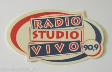 ADESIVO RADIO / Sticker Autocollant _ RADIO STUDIO VIVO (cm 10 x 6)