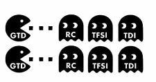 2 stickers Pac Man GTD  / tfsi rc tdi 40x200mm chacun