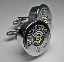 12 Gauge Winchester Nickel Shotgun Bullet Head Cufflinks Wedding Cufflinks Groom