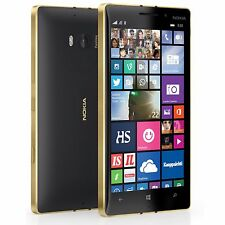 NOKIA LUMIA 930 32GB Black-Gold Unlocked 20mp Camera Dolby Digital Smartphone