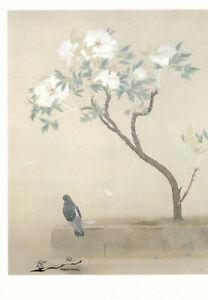 Postkarte: Tokuoka Shinsen - Pfingstrosen nach dem Regen / 1927