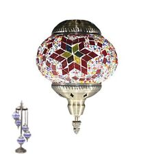 TURKISH MOSAIC LAMP Glass Table Lamp LIGHT Swan 5pcs ball Mosaic GIFT