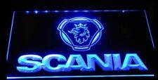 LED USB Light Neon Plate SCANIA Truck Blue Illuminating Sign Table 12-240V 40/30