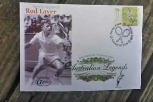 2003 TENNIS ROD LAVER  AUSTRALIA ALPHA  PEEL N STICK FIRST DAY COVER