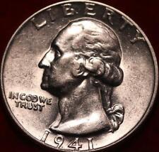 Uncirculated 1941 Phildelphia Mint Silver Washington Quarter