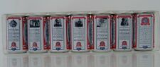 The Story of Budweiser Miniature 7pc Can Set - History of company on back of can