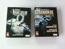Pack Lot Rainbow 6 Six gold pack edition & Rogue spear Platinum PC Big box FR