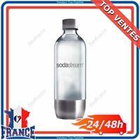 Bouteille 1L en PET Base Acier Inox pour Machine à Soda Sodastream Pure Génésis
