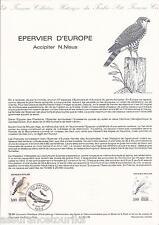 DOCUMENT PHILATÉLIQUE - OISEAUX - 1er JOUR 1984