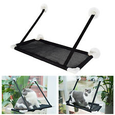Pet Cat Window Hammock Seat Perch Sun Bathing Black Bed Mounting Shelf Mesh