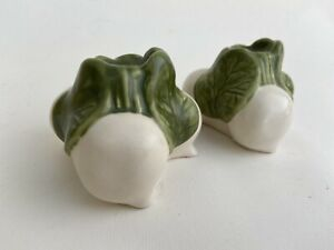 Williams-Sonoma Turnip Candle Holders Ceramic Set of Two