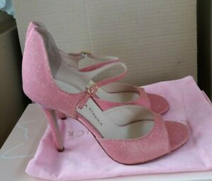 """Camilla Elphick """"Gold Dust"""" Sandals - Pink - EU 38 - RRP £510 - SOLD OUT On Line"""