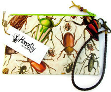 NEW Womens beetle pouch bag wristlet purse handmade in Australia HORSEFLY