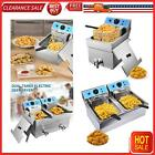 Commercial Electric Countertop Deep Fryer French Fry Restaurant Stainless Steel  photo