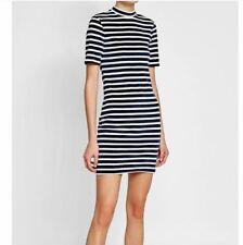 T Alexander Wang S Dress T Shirt Short Sleeve Striped Knit Blue & White sz S