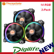 Thermaltake Riing 14 RGB 140mm High Static Pressure LED Radiator Fan (3-Pack)