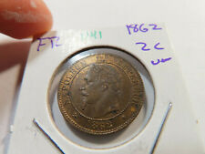 O41 France 1862 2 Centimes UNC